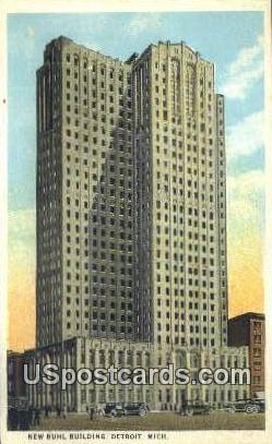 New Buhl Building - Detroit, Michigan MI Postcard