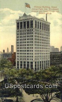 Whitney Building, Grand Circus Park - Detroit, Michigan MI Postcard
