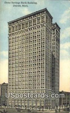 Dime Savings Bank Building - Detroit, Michigan MI Postcard