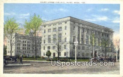 Court House & Jail - Flint, Michigan MI Postcard