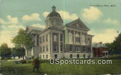 Court House - Flint, Michigan MI Postcard
