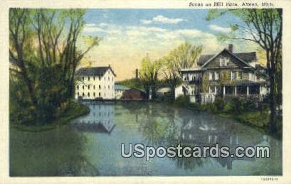 Mill Race - Albion, Michigan MI Postcard