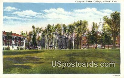 Campus, Albion College - Michigan MI Postcard