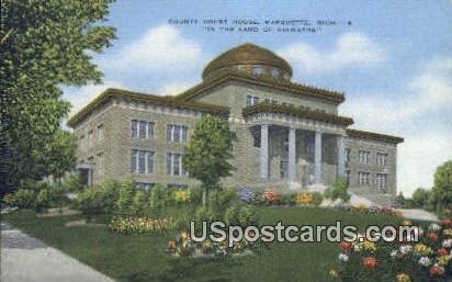 County - Marquette, Michigan MI Postcard