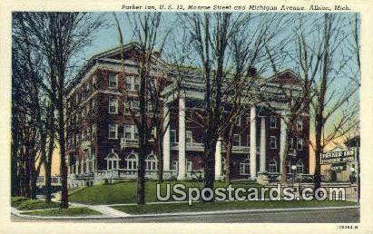 Parker Inn - Albion, Michigan MI Postcard