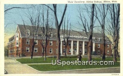 Girls Dormitory, Albion College - Michigan MI Postcard