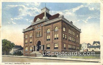 City Hall - Marquette, Michigan MI Postcard