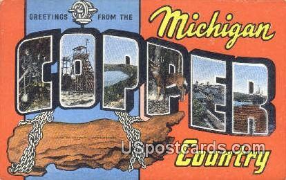 Copper County, Michigan Postcard      ;      Copper County, MI