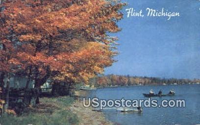 Autumn Idyl - Flint, Michigan MI Postcard