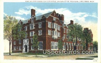 Martha Cook Dorm for Girls, University of Michigan - Ann Arbor Postcard