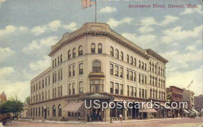 Brunswick Hotel - Detroit, Michigan MI Postcard