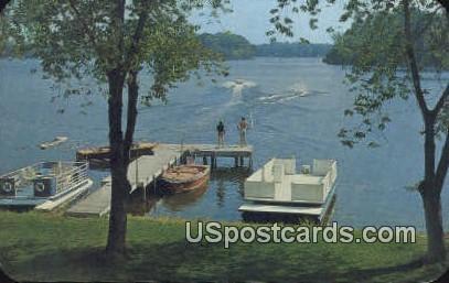 Water Skiing - MIsc, Michigan MI Postcard