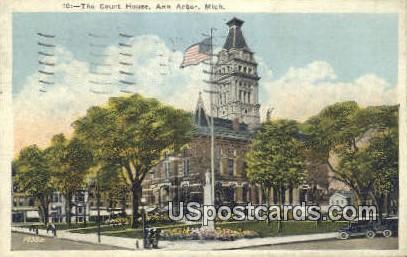 Court House - Ann Arbor, Michigan MI Postcard