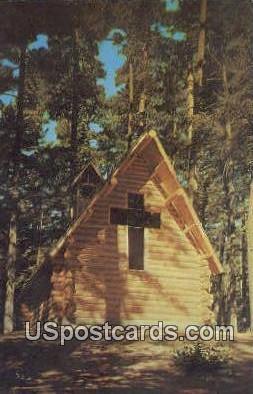 Chapel in the Pines - Grayling, Michigan MI Postcard