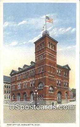Post Office - Marquette, Michigan MI Postcard