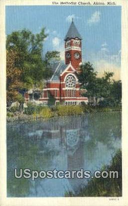 Methodist Church - Albion, Michigan MI Postcard