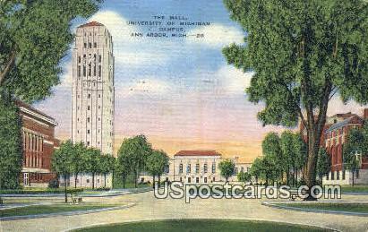 The Mall, University of Michigan Campus - Ann Arbor Postcard