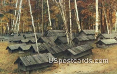 Indian Cemetery - Crystal Falls, Michigan MI Postcard