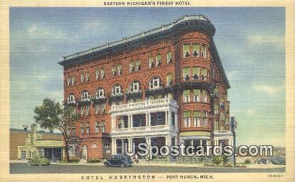 Hotel Harrington - Port Huron, Michigan MI Postcard