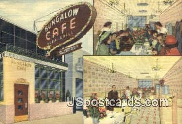Bungalow Caf» - Dearborn, Michigan MI Postcard