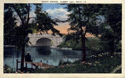 Hatch Bridge - Albert Lea, Minnesota MN Postcard