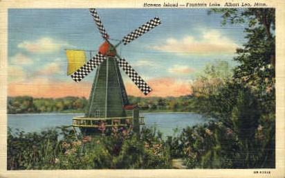 Hanson Island, Foutain Lake - Albert Lea, Minnesota MN Postcard