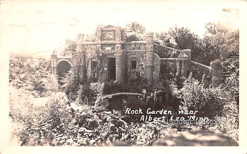 Rock Garden - Albert Lea, Minnesota MN Postcard