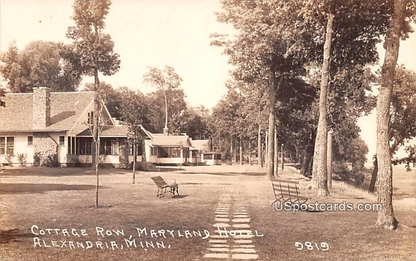 Cottage Row - Alexandria, Minnesota MN Postcard