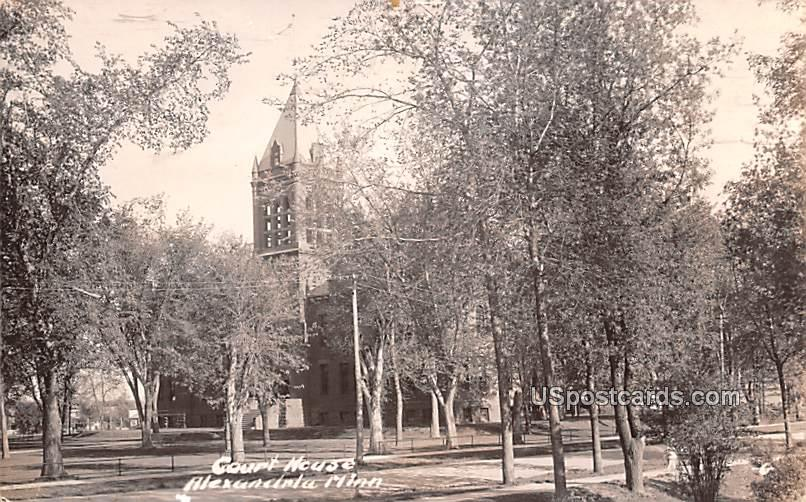 Court House - Alexandria, Minnesota MN Postcard