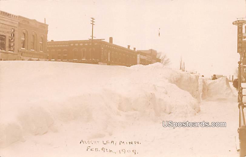 Winter Scene - Albert Lea, Minnesota MN Postcard