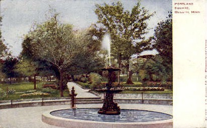 Portland Square - Duluth, Minnesota MN Postcard