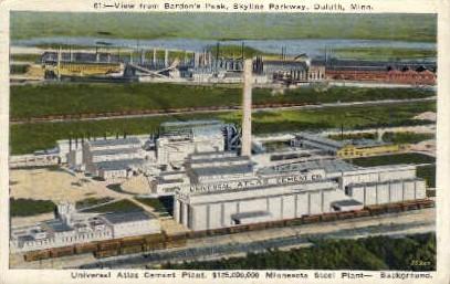 View from Bardon's Peak, Skyline Parkway - Duluth, Minnesota MN Postcard
