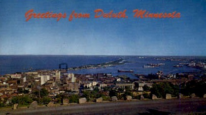 Greetings From - Duluth, Minnesota MN Postcard