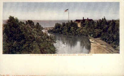 Moth Lester River and Fish Hatcheries - Duluth, Minnesota MN Postcard