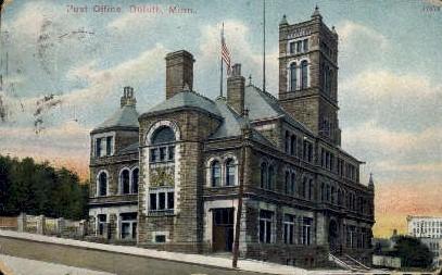 Post Office - Duluth, Minnesota MN Postcard