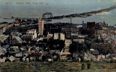 Hill Top - Duluth, Minnesota MN Postcard