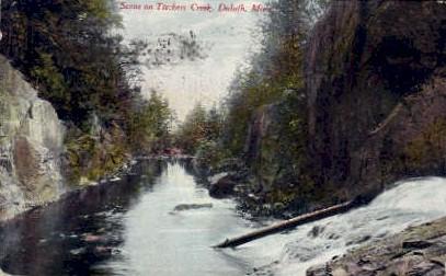 Tischers Creek - Duluth, Minnesota MN Postcard