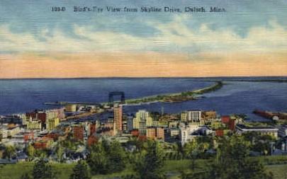 Skyline Drive - Duluth, Minnesota MN Postcard