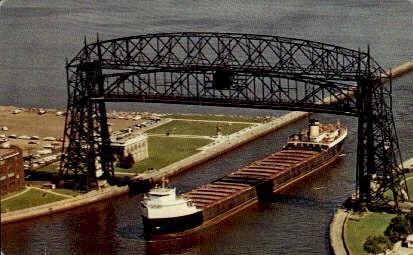 Duluth Aerial Bridge - Minnesota MN Postcard