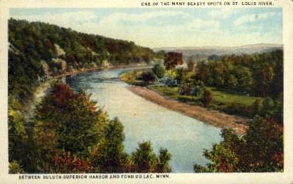 St. Louis River - Duluth, Minnesota MN Postcard