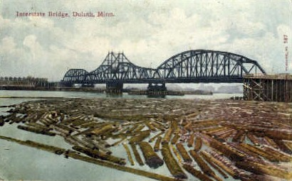 Interstate Bridge - Duluth, Minnesota MN Postcard
