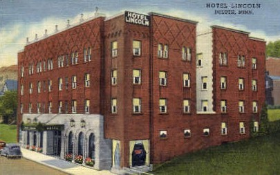 Hotel Lincoln - Duluth, Minnesota MN Postcard
