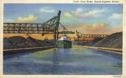 Coal Docks, Duluth-Superior Harbor - Minnesota MN Postcard