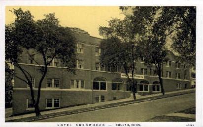 Hotel Arrowhead - Duluth, Minnesota MN Postcard