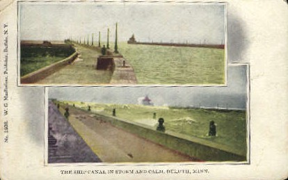 The Ship Canal - Duluth, Minnesota MN Postcard