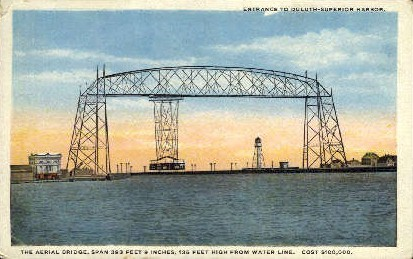 The Aerial Bridge - Duluth, Minnesota MN Postcard
