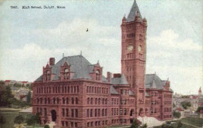 High School - Duluth, Minnesota MN Postcard