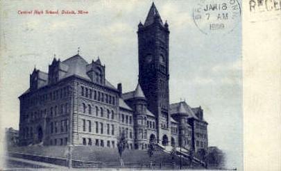 Central High School - Duluth, Minnesota MN Postcard