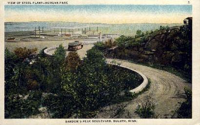 Steel Plant, Morgan Park - Duluth, Minnesota MN Postcard