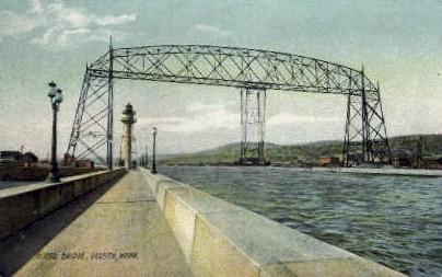 Aerial Bridge - Duluth, Minnesota MN Postcard